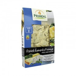 Raviolis espinacas queso...